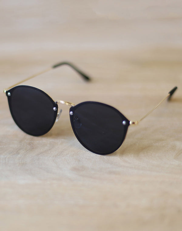 Highland Sunglasses Gold/Black Matte