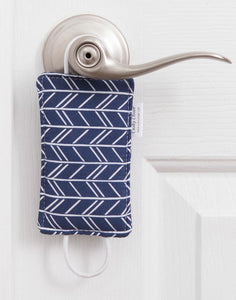 Birch Navy Modern Chev Cushy Closer