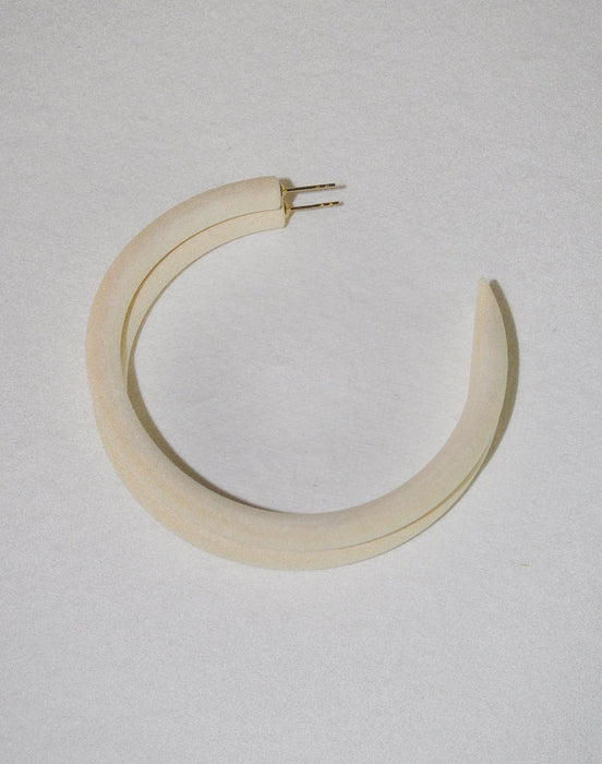 Chanel Ivory Large Hoop