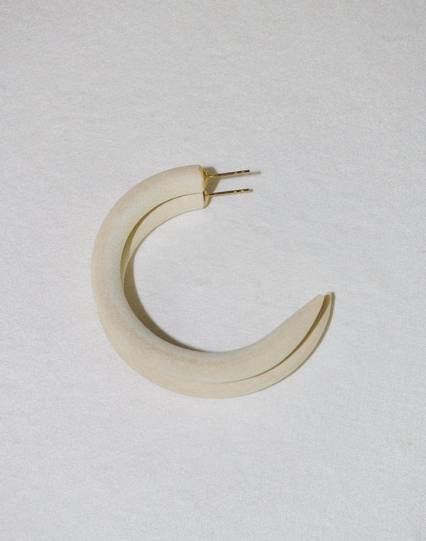 Chanel Ivory  Small Hoop