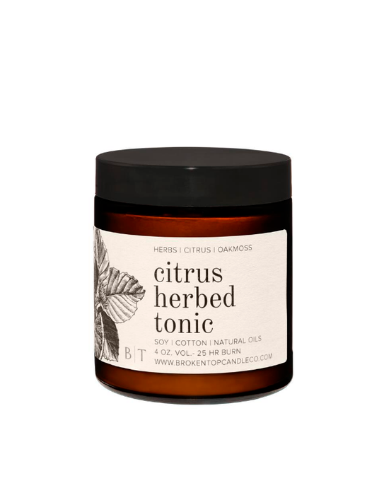 Citrus Herbed Tonic- 9oz Candle