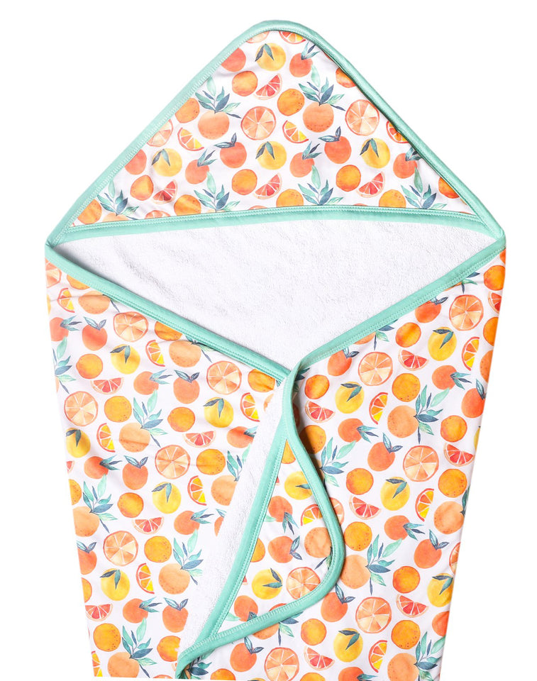 Citrus Knit Hooded Towel