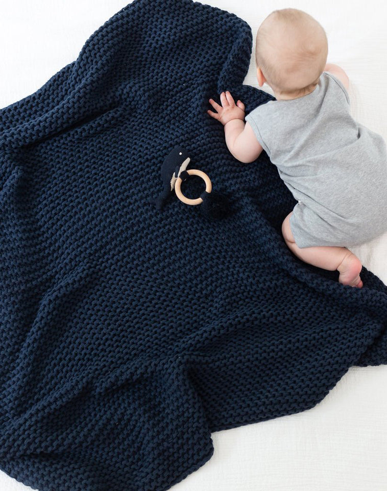 Comfy Knit Baby Gift Set Navy