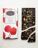 Candy Cane + Cocoa Nibs Dark Chocolate