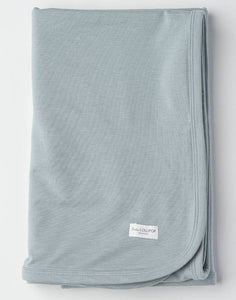 Stretch Knit Blanket in Tencel - Slate