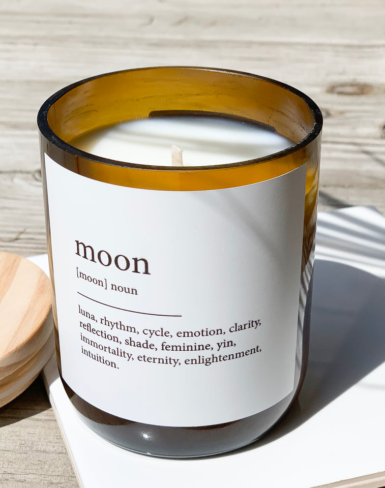 Dictionary Candle - Moon - Tulum