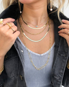 "Snake Chain Necklace 20""- 14K Gold Vermeil"