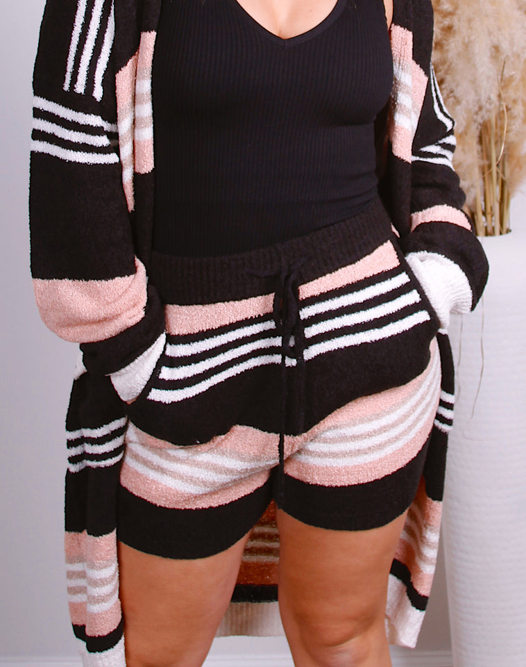 Gigi Striped Lounge Short