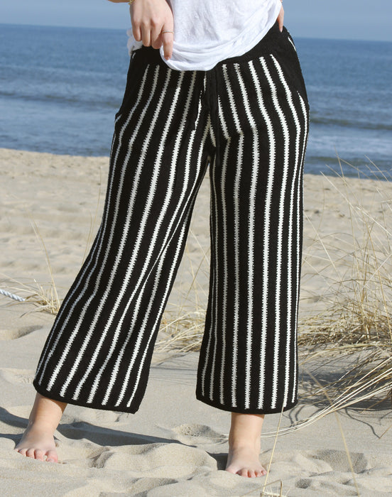 Lyra Striped Cropped Sweater Pant