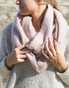 Cozy Solid Scarf- Dust Pink