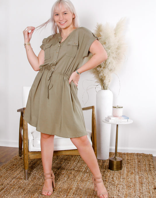 Caroline Buttondown Dress