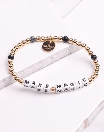 Little Words Project- Make Magic Gold Filled Black