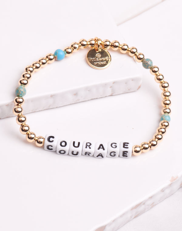 Little Words Project- Courage Gold Filled Turq