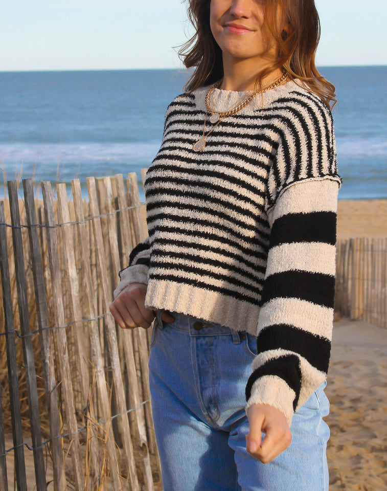 Babe Striped Sweater