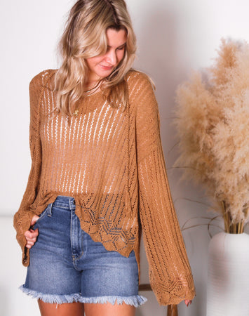 Maisey Textured V Neck Sweater