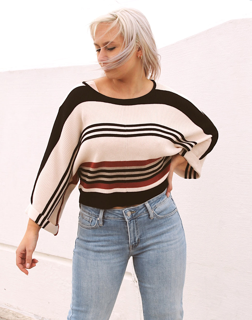 Retro Dolman Sweater