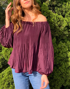 Cabernet Off Shoulder Top