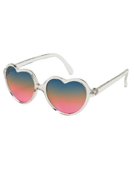 Kids Crystal Heart Sunglasses- Rainbow