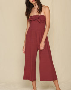 Bali Front Tie Strapless Jumpsuit