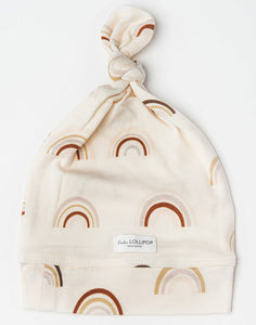 Top Knot Beanie In Tencel- Canyon Rainbow 0-6M
