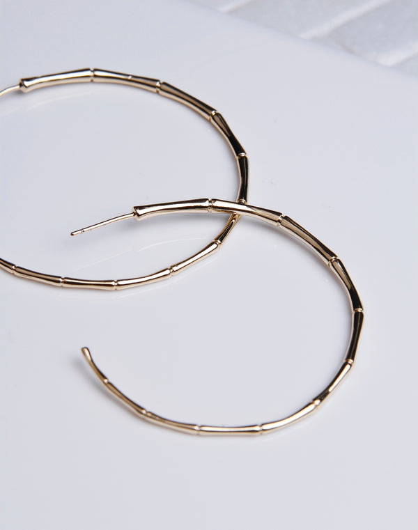 Large Gold Bamboo Hoop