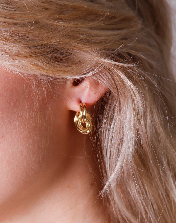 Gold Dipped Multi Oval Stud
