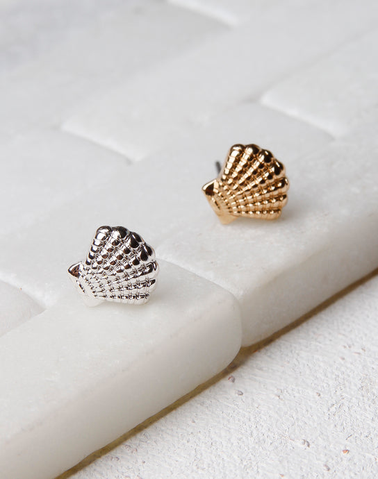 Sea Shell Textured Studs