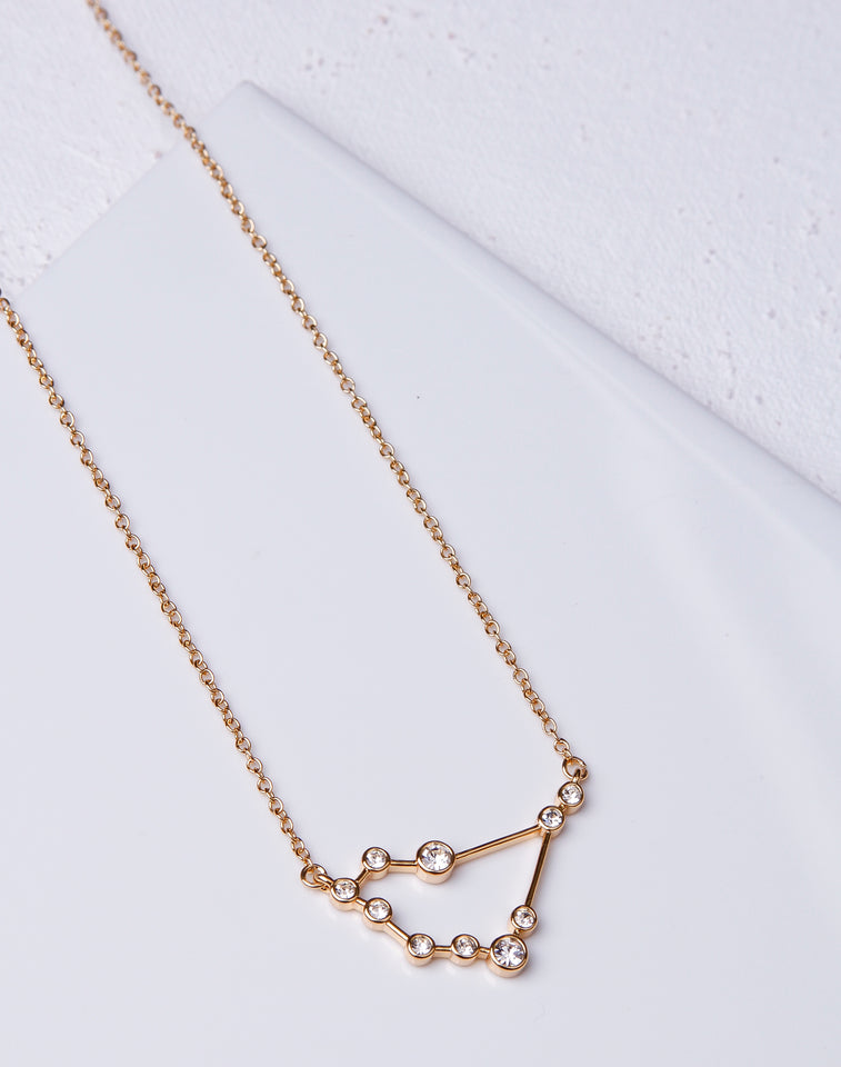 Zodiac CZ Constellation Necklace