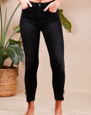 Skinny With Hem Bite Denim