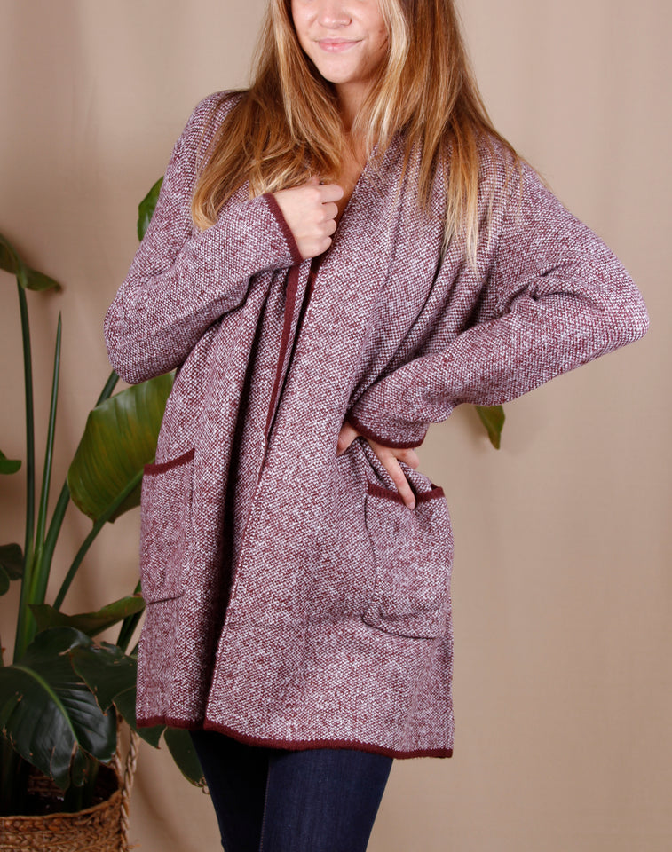 Heather Open Front Cardigan