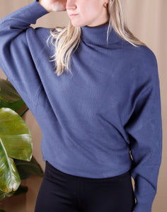 Ribbed Cocoon Sweater