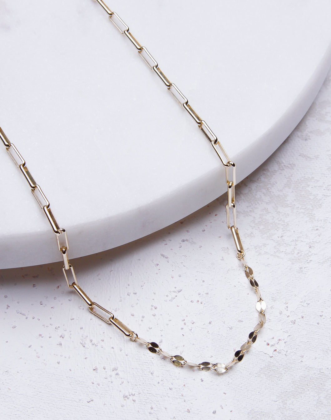Link Chain W/ Glitz Necklace