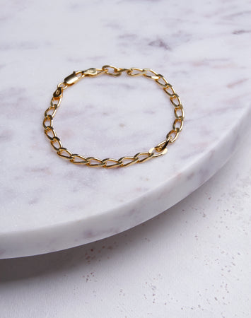 Medium Cuban Link Bracelet-14K Gold Vermeil
