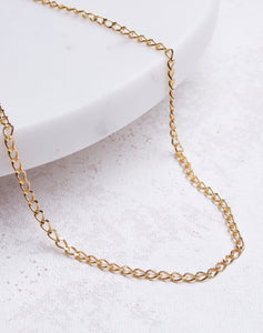 Small Cuban Link Chain Choker- 14K Gold Vermeil