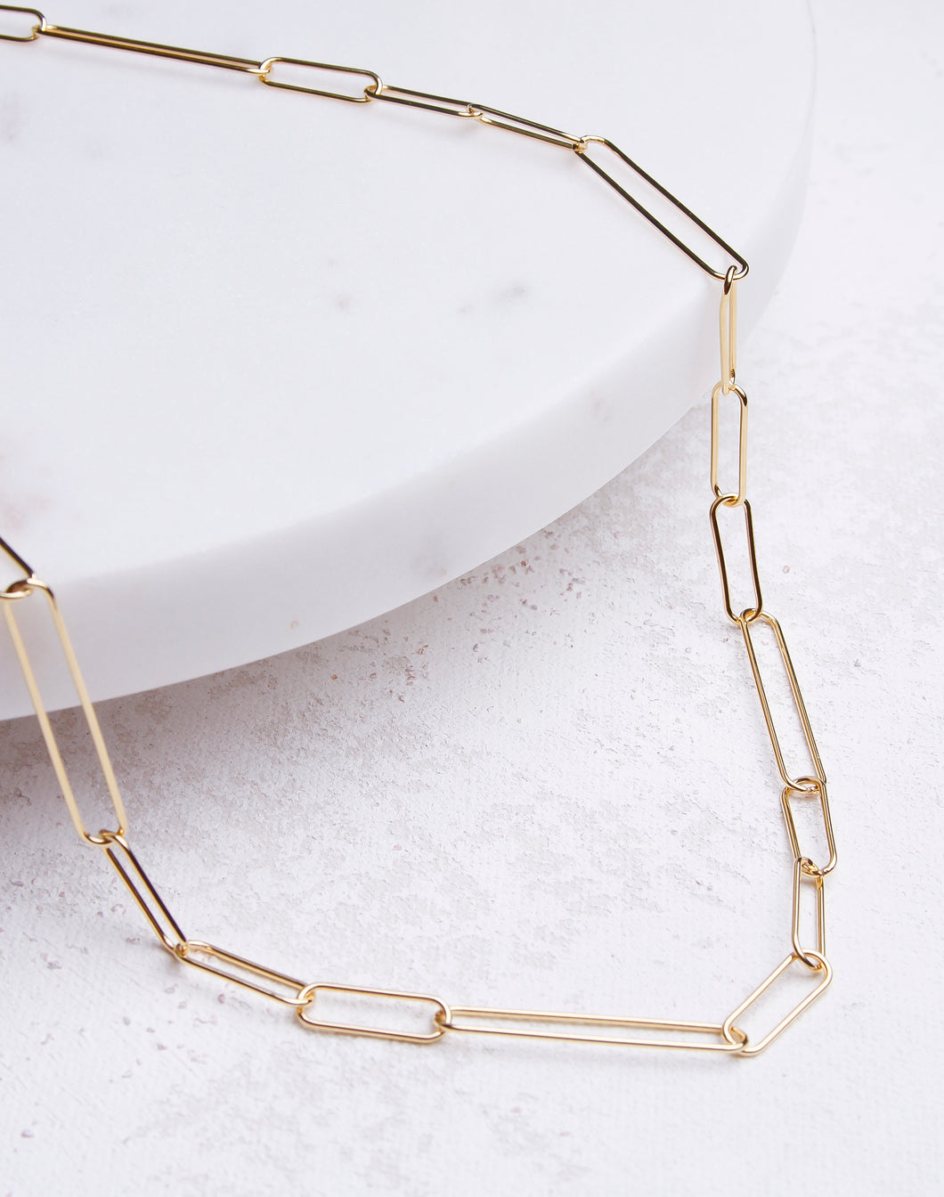 Short Paperclip Chain Necklace