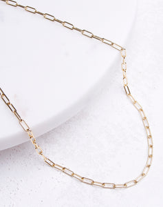 Small Paperclip Chain Necklace