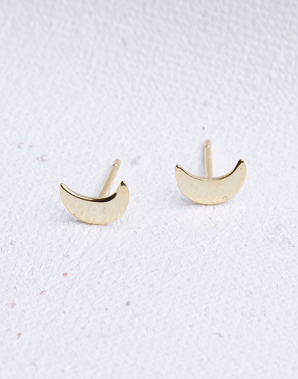 Simple Moon Stud