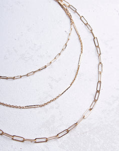 Paperclip Chain Layered Necklace
