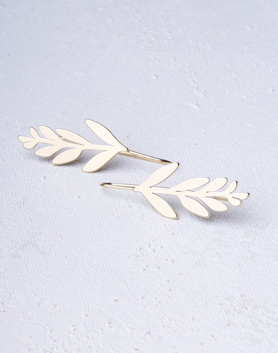 Leaf Threader Dangle - Gold