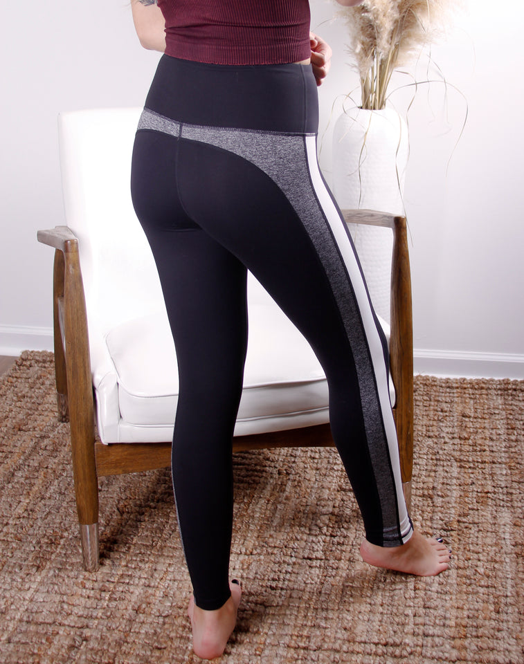 Layered Striped Colorblock Leggings