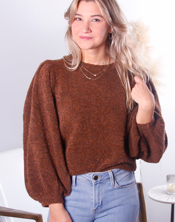Daniella Balloon Sleeve Sweater