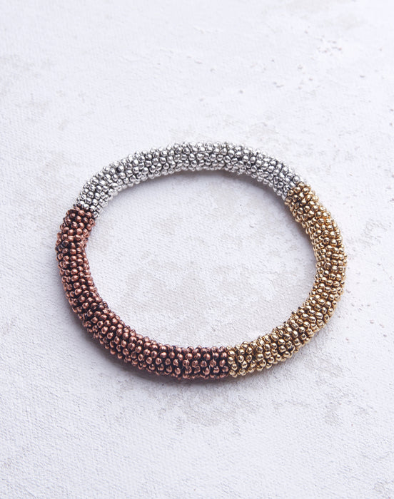 Metal Tri Colored Bracelet