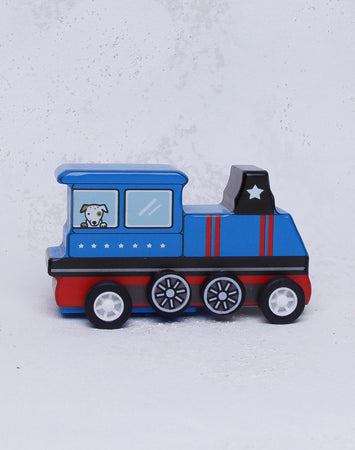 Pull Back Mini Train - Blue