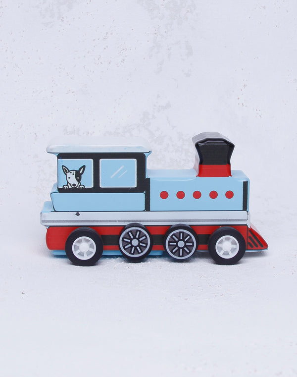 Pull Back Mini Train - White