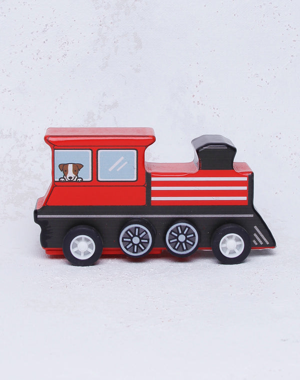 Pull Back Mini Train - Red