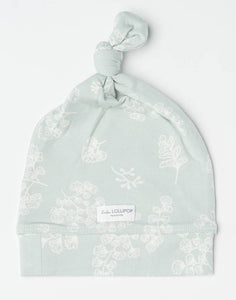 Top Knot Beanie In Tencel- Fern 0-6M