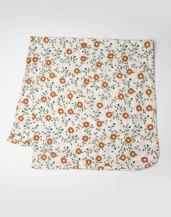 Stretch Knit Blanket in Tencel - Flower Vine