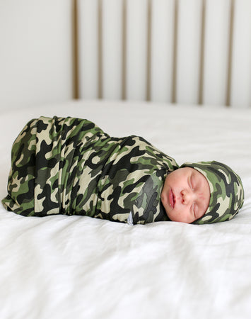 Cadet - Infant Swaddle and Beanie Set