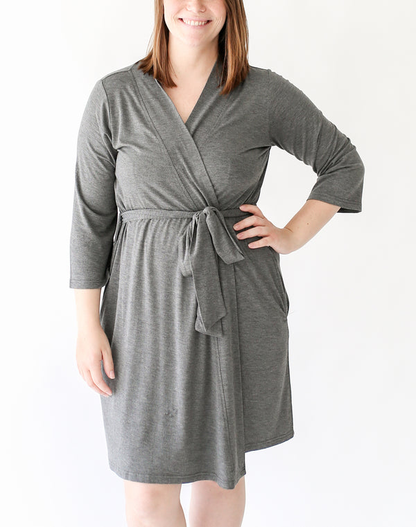 Charcoal Heather Mommy Robe