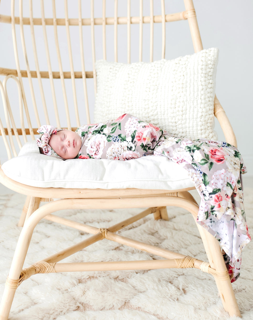 Cassie Infant Swaddle and Headwrap Set